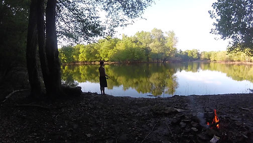 Luke Hanna and Stephanie wilson camping in Charles C. Deam National Forest in Hoosier national forest next to Lake Monroe near bloomington indiana