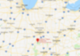 google map data 2019 of Charles C. Deam Wilderness Area in Hoosier National Park near Bloomington Indiana