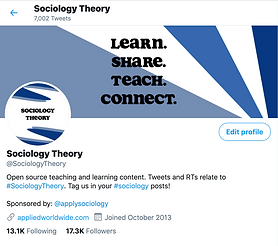 Renovations to the @SociologyTheory Twitter Handle