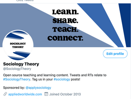 The Story of @SociologyTheory: Part 1