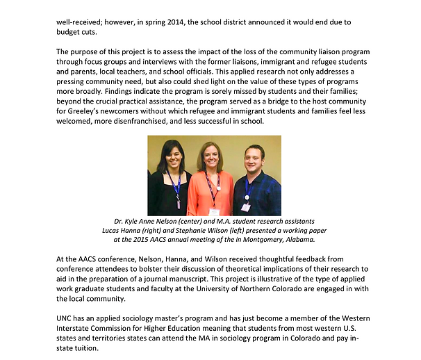 Luke Hanna and Stephanie Wilson at Association of Applied and Clinical Sociology