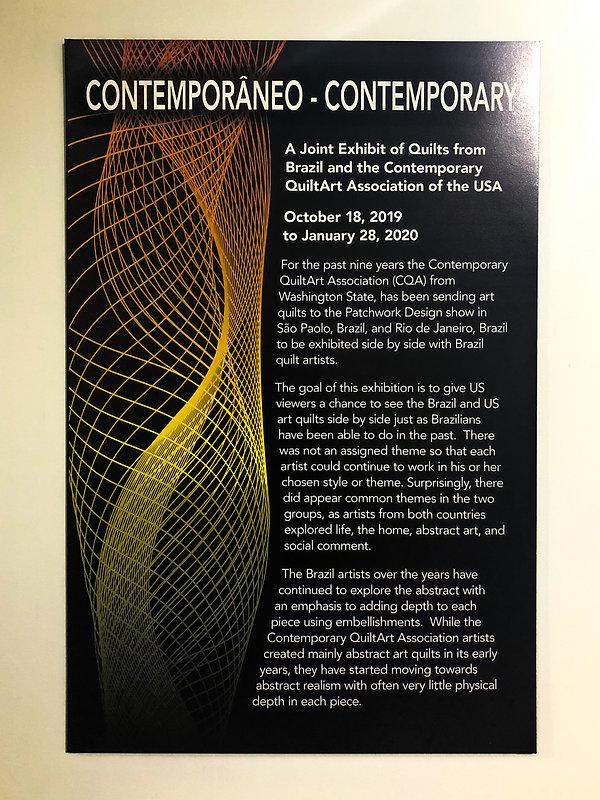 Contemporaneo - Contemporary Exhibit National Quilt Museum