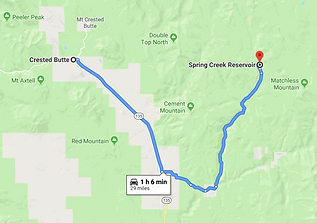 google map data 2019 Driving directions from crested butte to spring creek reservoir
