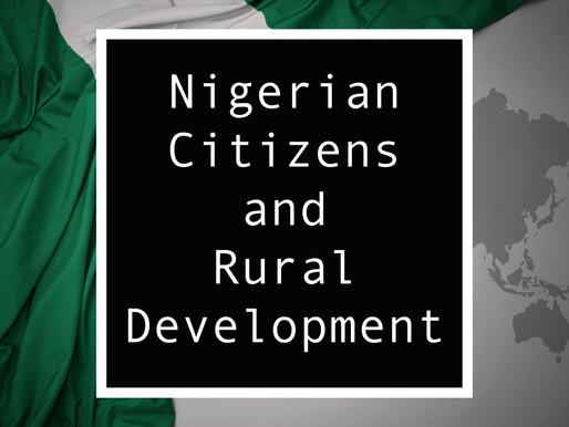 From Nigeria - Nigerian Citizens and Rural Development