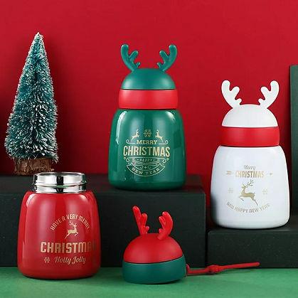 Christmas Steel Flask