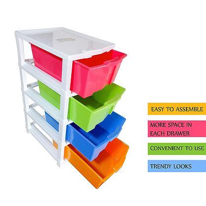 4 Plastic Modular Drawer System