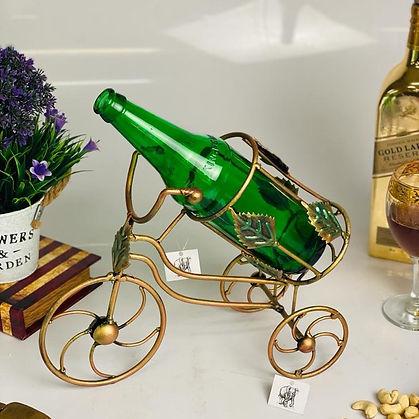 Metal Cycle Wine Bottle Holder