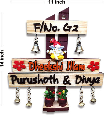 Wood Acrylic Name Plate
