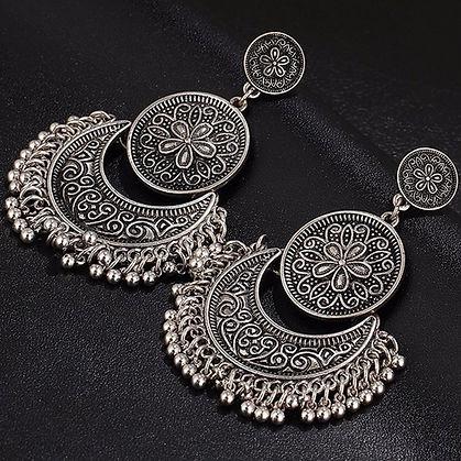 Silver Gold Tribal Earrings