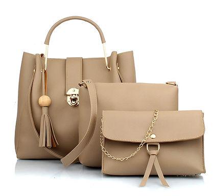 Handbag With Sling Bag & Wristlet