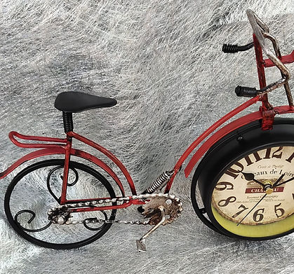 Fully Metal Cycle Table Clock