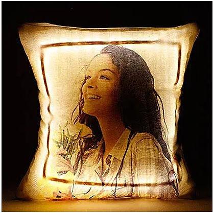 Personalised Cool Yellow LED Cushion