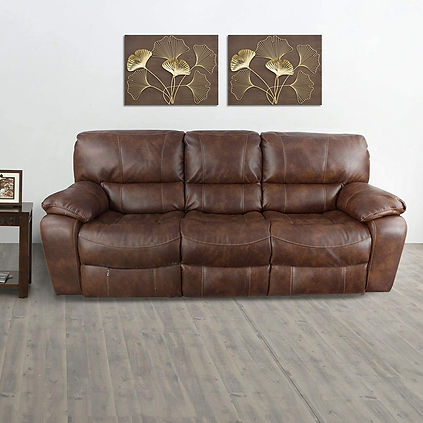Leather Recliner-3 Seater