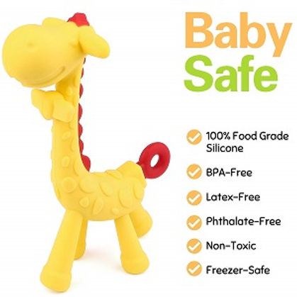 Moppets Baby Silicone Giraffe Teether