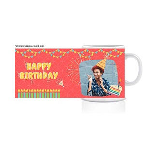 Happy Birthday Personalized Photo Mug