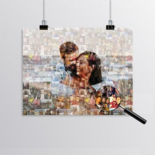 Personalized Photo Mosaic Collage