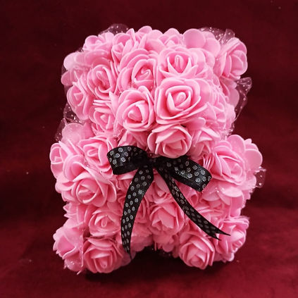 Big Foam Flower Teddy