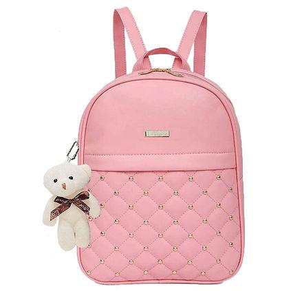 Teddy Keychain Women Backpack
