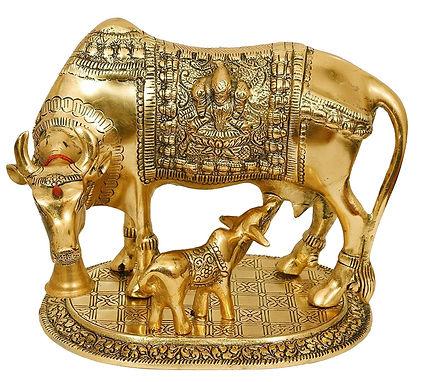 Kamdhenu Cow with Calf Handicraft