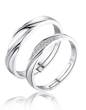 Couple Adjustable Ring Gift
