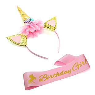 Unicorn Birthday Girl Set