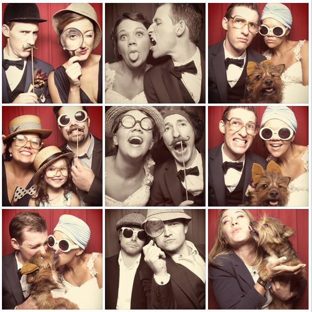 Wedding Photobooth Dog!