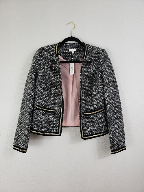 C Black, White, and Metal Tweed Posh Jacket