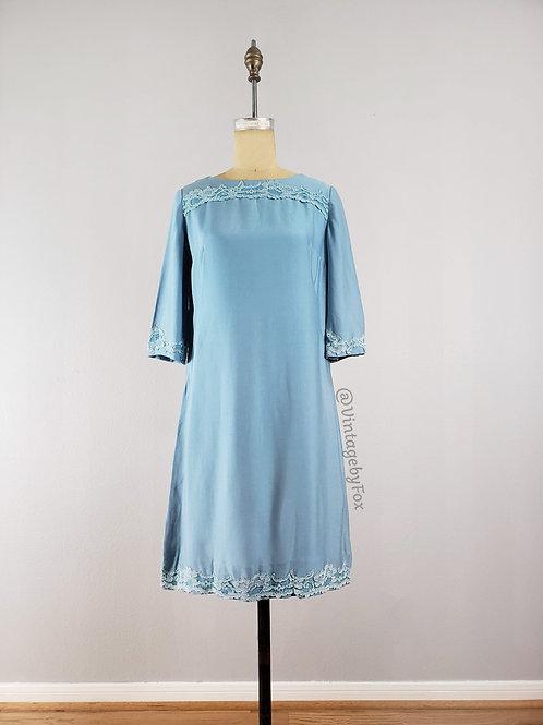 1950's Square Posh Lace Shift Dress