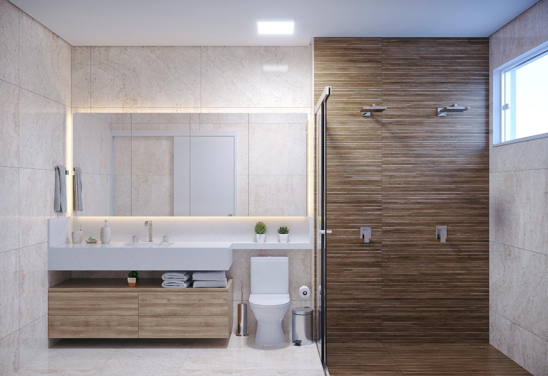 Banheiro suite apto tipo