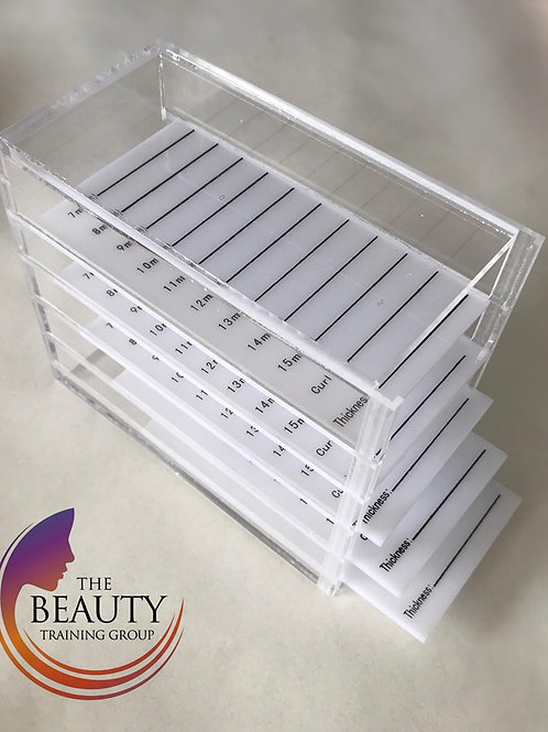 Storage box organiser with 5 flat palettes