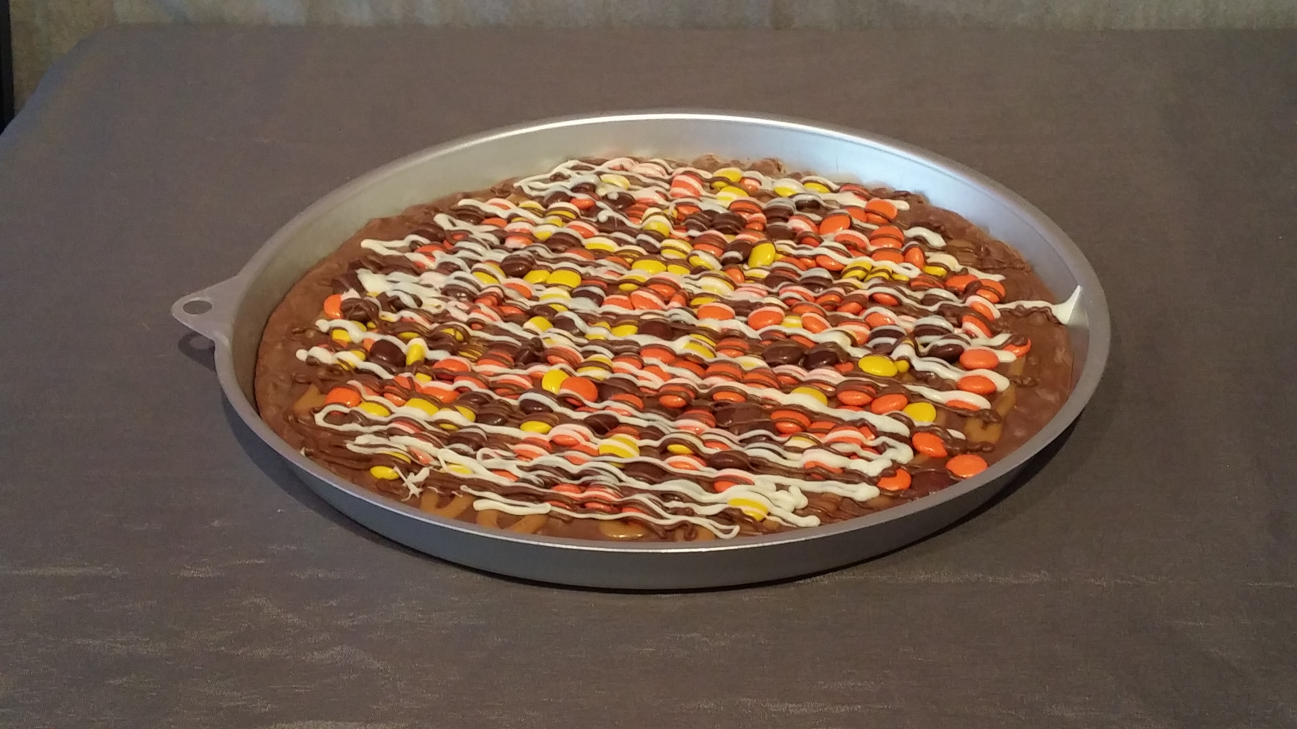 Reese's Pieces Chocolate Pizza