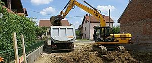 construction machine truck