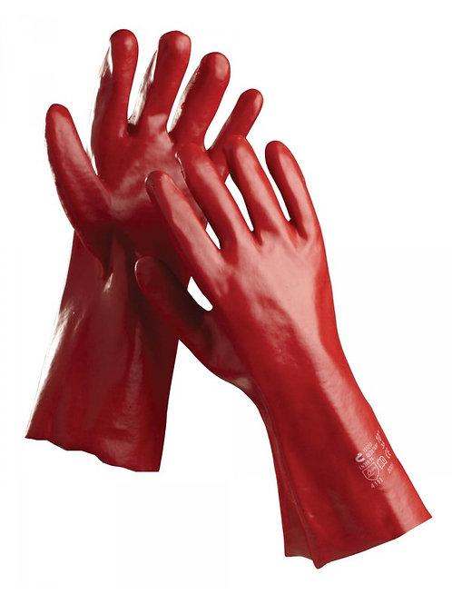 Red PVC Gloves 35cm