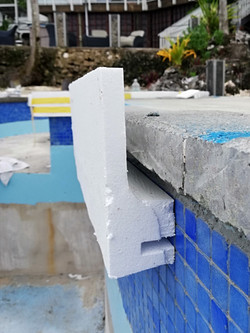 Formwork to pool