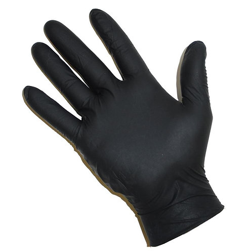 Black Nitrile Disposable Gloves: Box 100