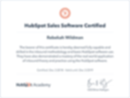 HubSpot Sales Software Certificate 12031