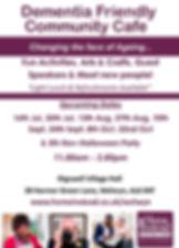 Community Cafe Flyer - July - Nov Dates-