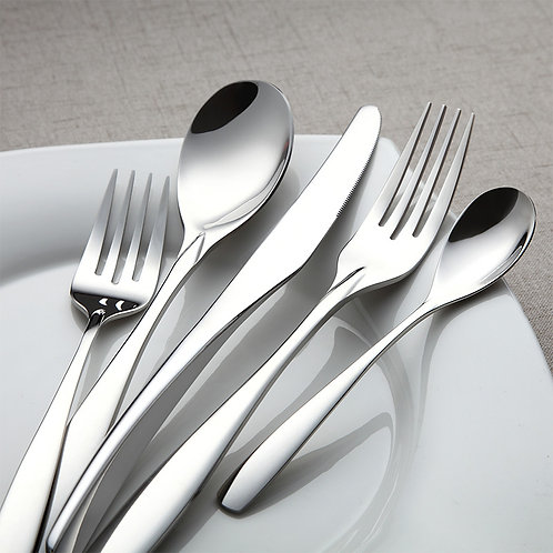 Black titanium flatware luxury stainless cutlery set