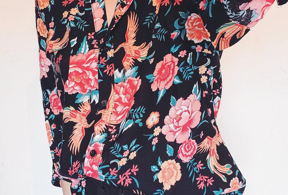 Camisa Asian flower