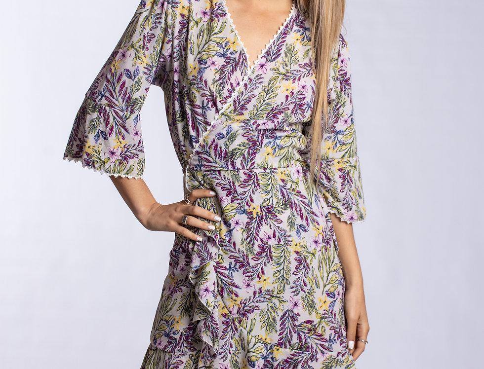 Vestido Maggie Floreado Violet