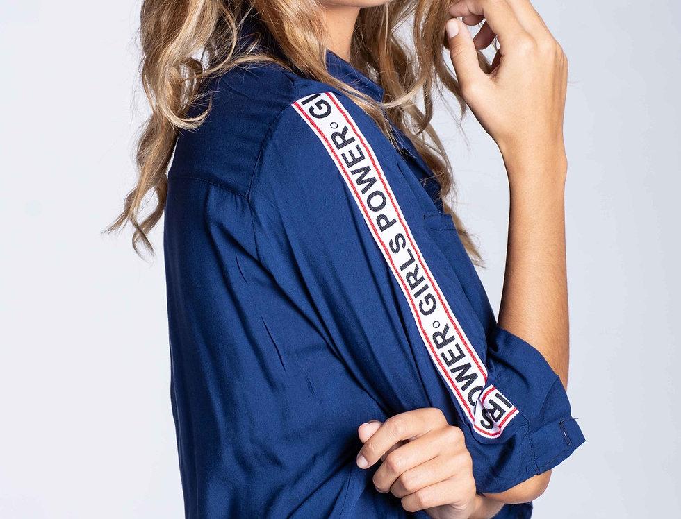 Camisa galon Girls power 3/4