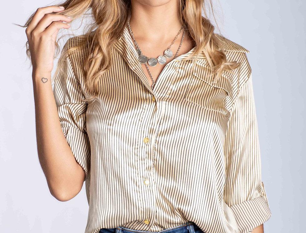 Camisa raso rayado