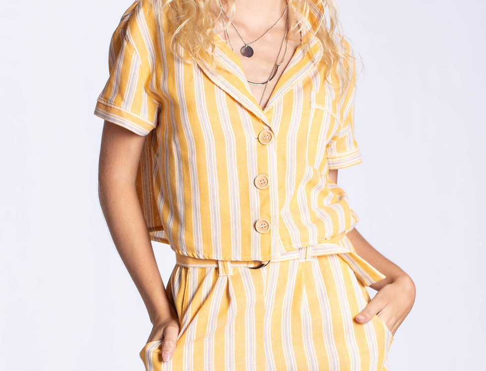 Conjunto Camisa+short Simil lino
