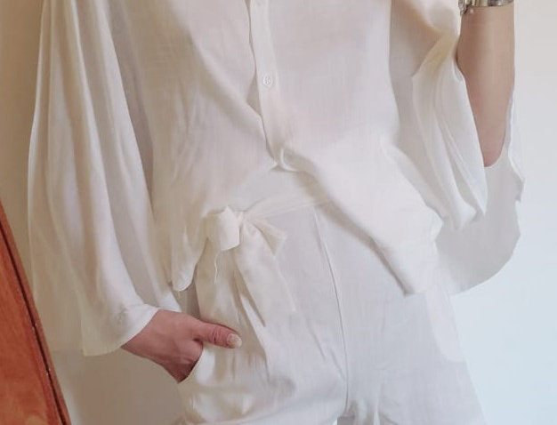 Camisa Dolman lino