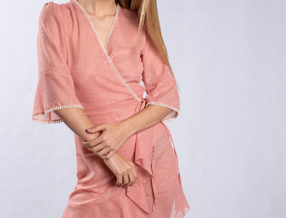 Vestido Maggie Gold lunares