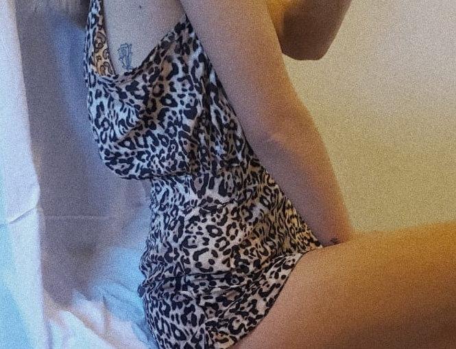 Short voladito leopardo