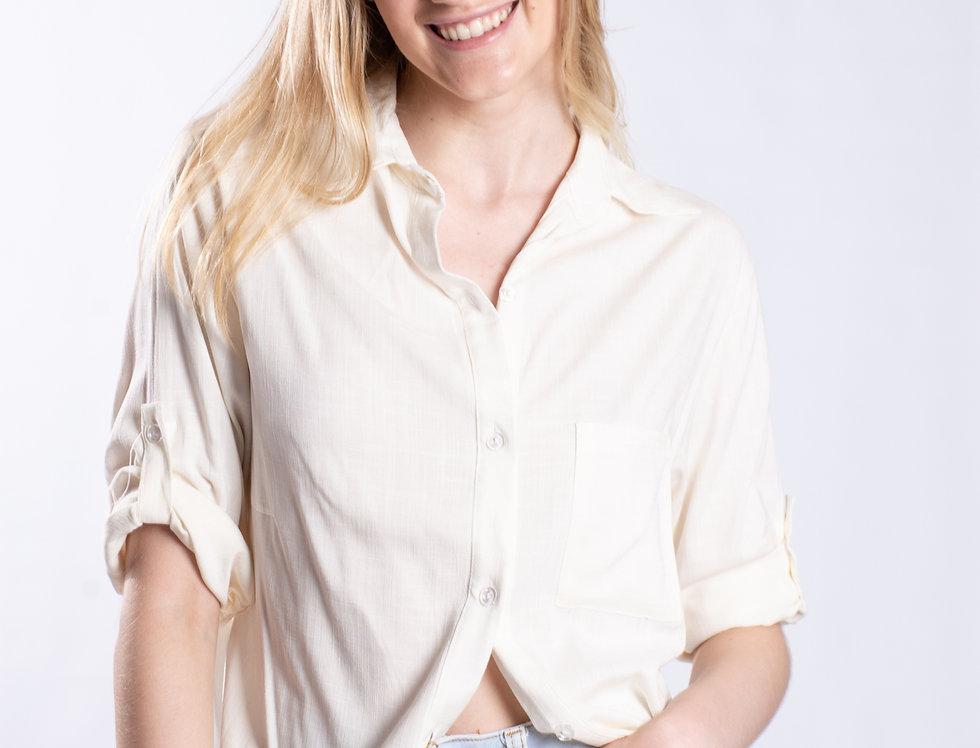 Camisa Oversize Lino