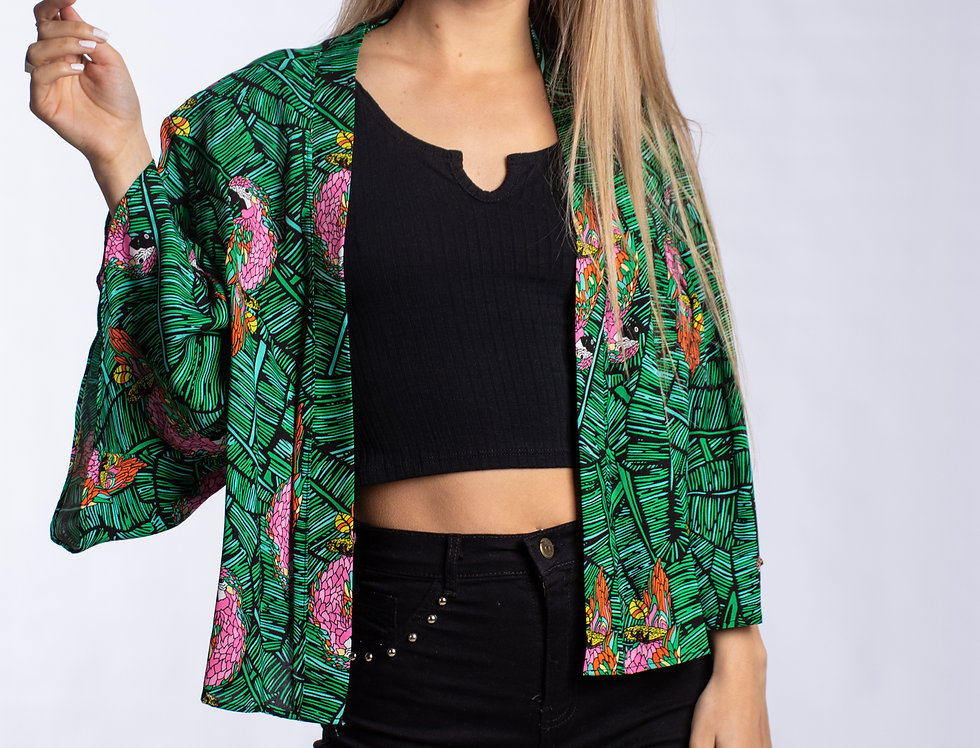 Kimono Tennesse Parrot
