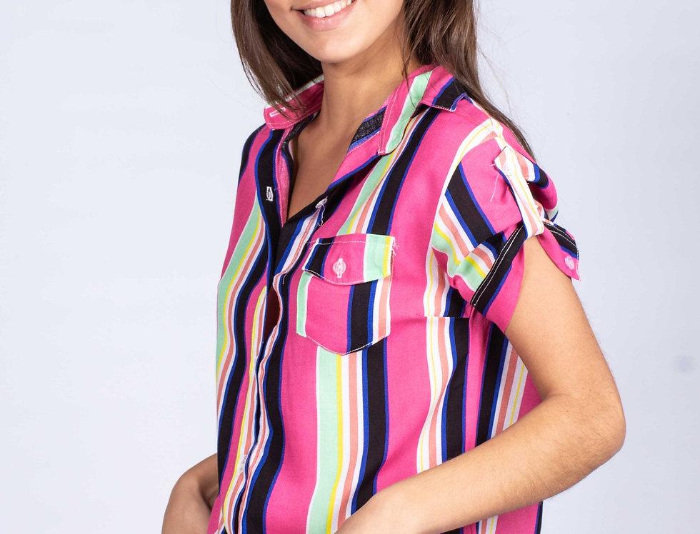 Camisa Stacy Raya combi