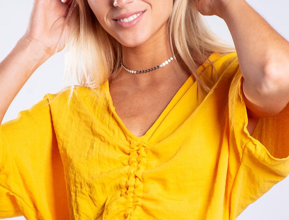 Blusa lino frunce